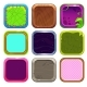 Funny Cartoon Square Frames for App Icons Design. - GraphicRiver Item for Sale