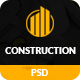 Construction – Construction Building Business PSD Template