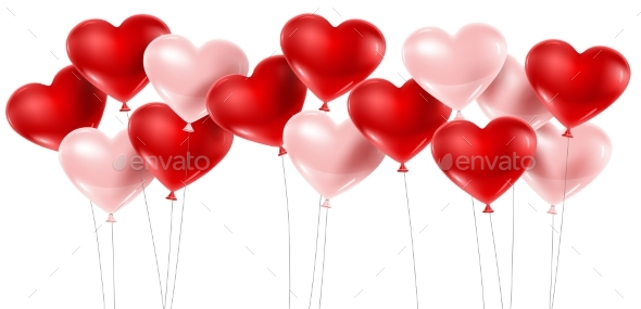 Red and Pink Balloons - Weddings Seasons/Holidays