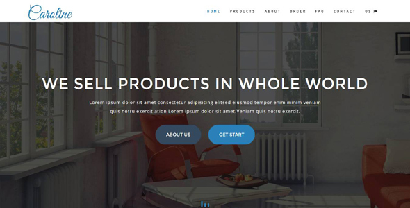 Caroline – OnePage E-Commerce Template