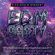 EDM Party Flyer Template