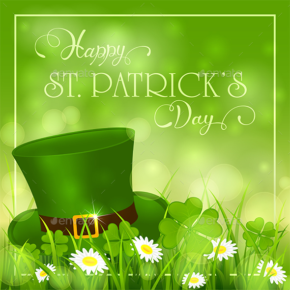 Patricks Day Background with Hat of Leprechaun - Miscellaneous Seasons/Holidays