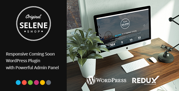 Selene - Responsive Coming Soon WordPress Plugin - CodeCanyon Item for Sale