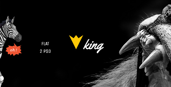 KING - Personal Multipurpose Blog Template (PSD)