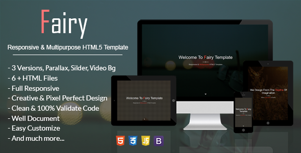 Fairy – Responsive & Multipurpose HTML5 Template