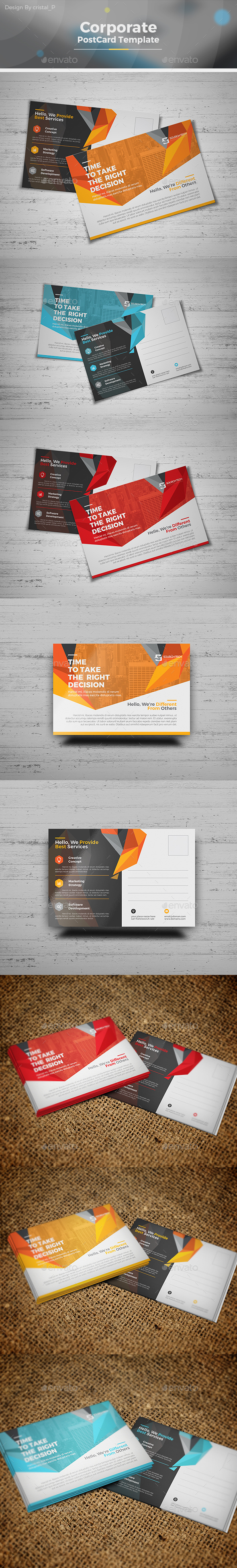Corporate Business Postcard - Cards & Invites Print Templates