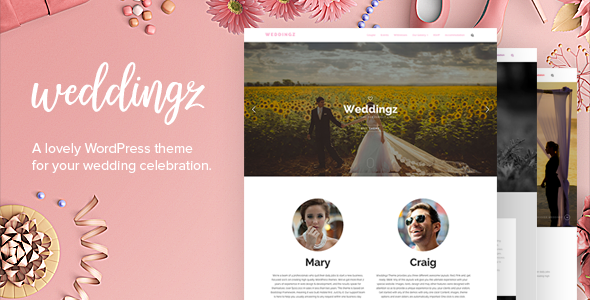Weddingz – Creative Wedding WordPress Theme
