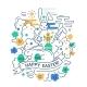Easter Line Design Illustration - GraphicRiver Item for Sale