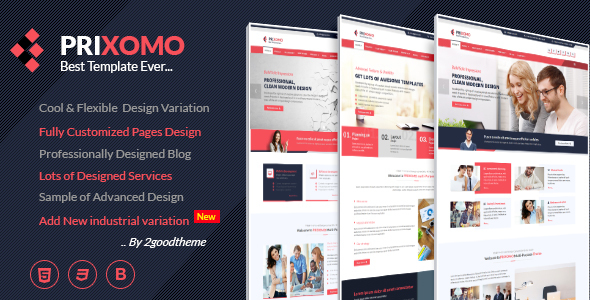 Prixomo - Business and Industrial HTML5 Template - Business Corporate