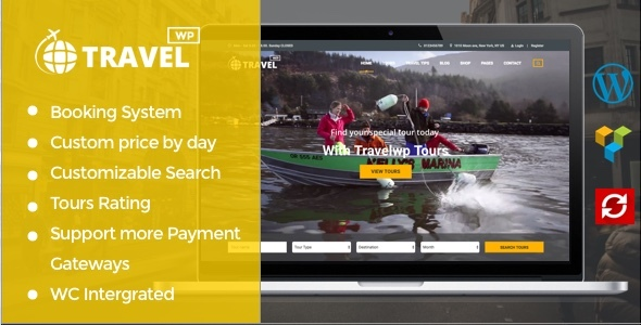 Travel WP – Tour & Travel WordPress Theme for Travel Agencies and Tour Operators
