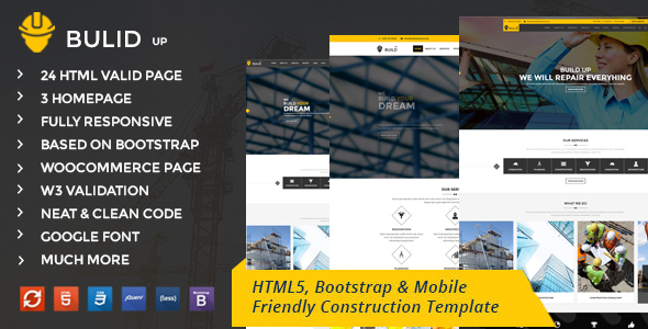 Construction - Building & Industrial HTML5 Business Template - Business Corporate