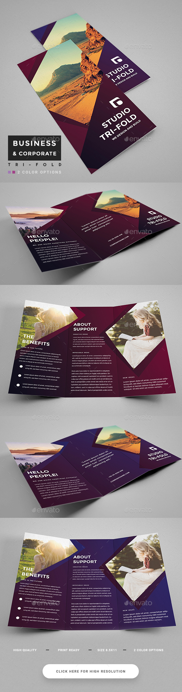 Colorful Corporate Trifold - Corporate Brochures