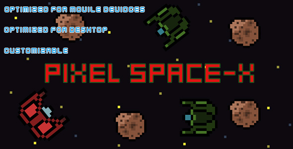 Pixel Space-X(HTML5 Game + Construct 2 CAPX) - CodeCanyon Item for Sale