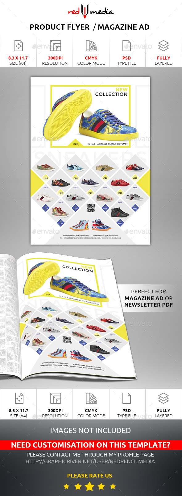 Product Flyer / Magazine AD - Commerce Flyers
