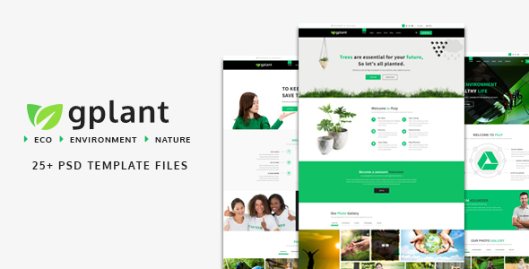 gPlant – Multipurpose ECO, Natural & Environmental PSD Template