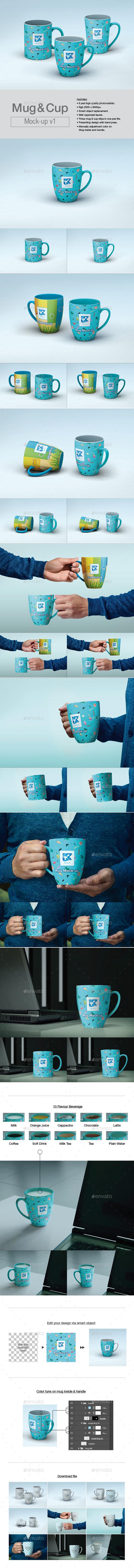 Mug & Cup Mock-up v1 - Product Mock-Ups Graphics