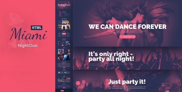 Miami – Night Club Responsive HTML Template