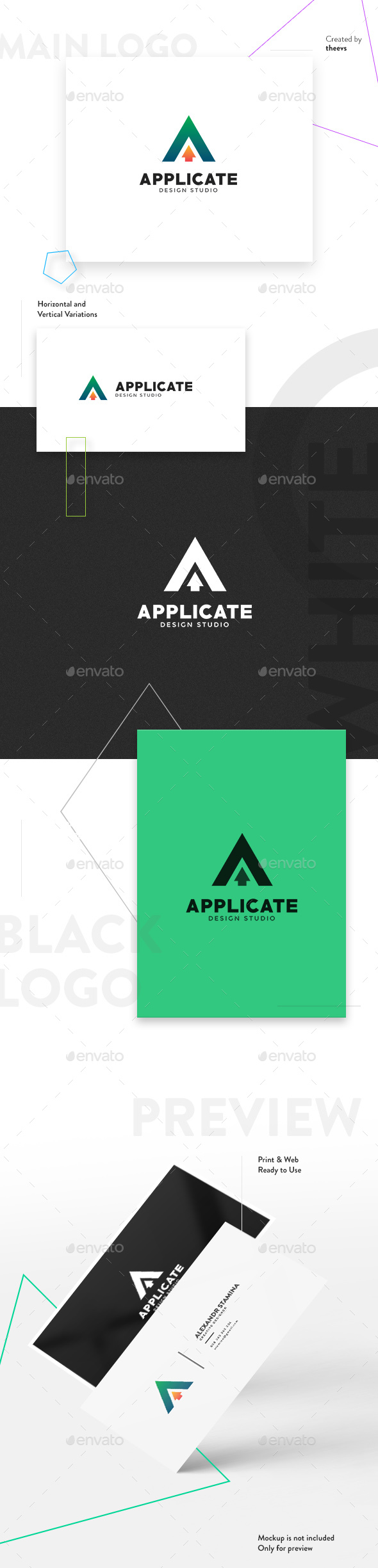 Applicate Logo - Letters Logo Templates