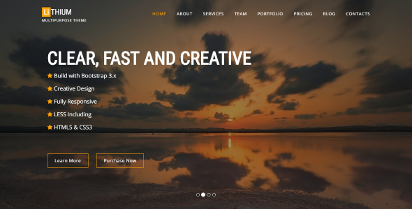 Lithium – Multipurpose One Page Template