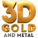 3D Gold and Metal Effects - GraphicRiver Item for Sale