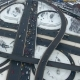 Aerial View of Highway Interchange. Cars on a Overpass. . Bird View. Nulled