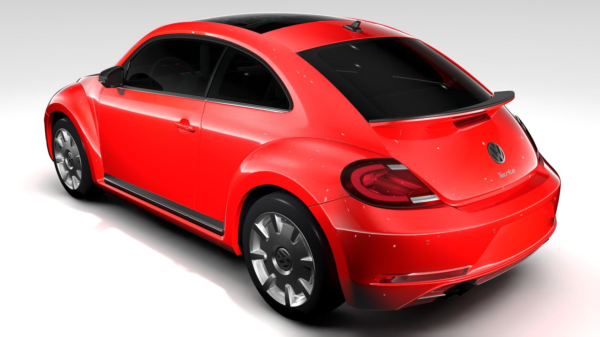 vw beetle turbo 2017 by creator 3d 3docean. Black Bedroom Furniture Sets. Home Design Ideas
