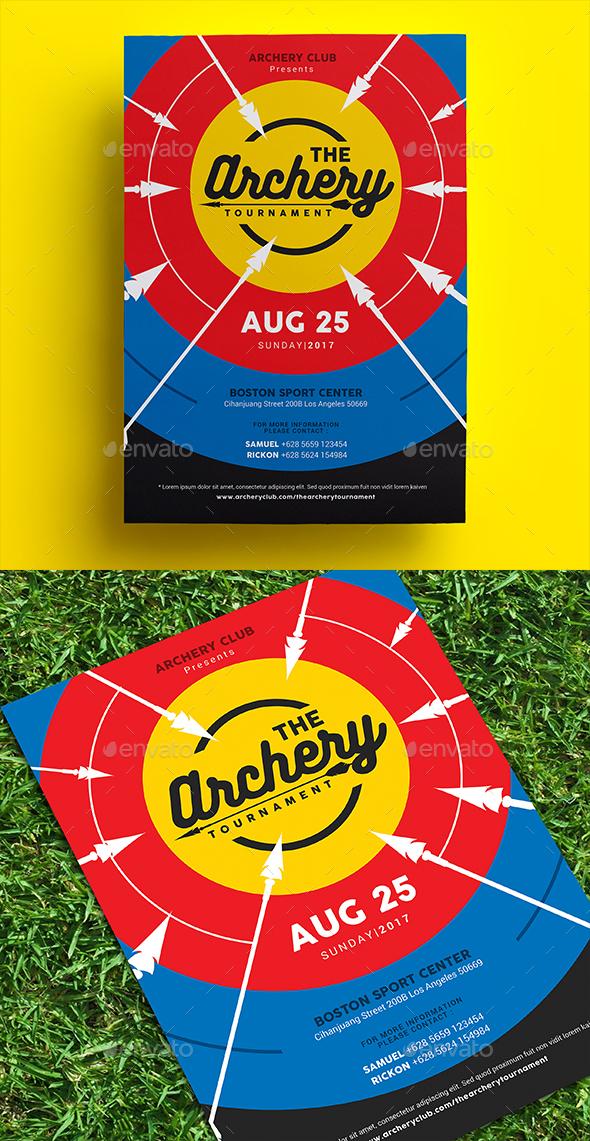 Archery Tournament Flyer - Sports Events