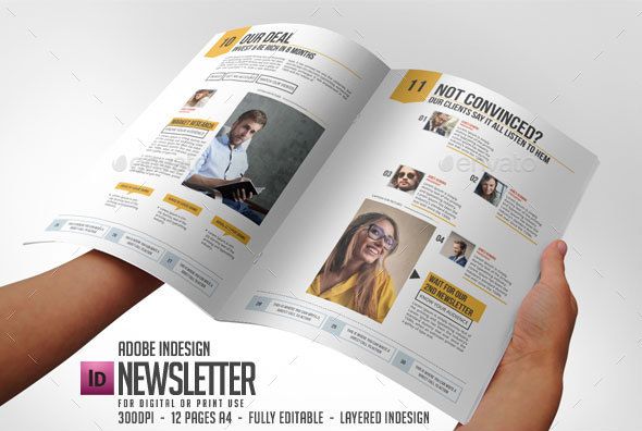 Newsletter Indesign Vol By Blogankids  Graphicriver