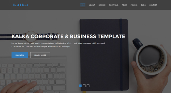 kalka – One Pgae Business & Corporate Template