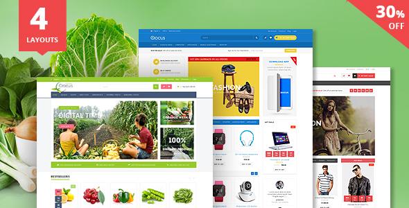 Crocus - Electronics Store, Fashion Store & Organic Shop Responsive OpenCart Theme
