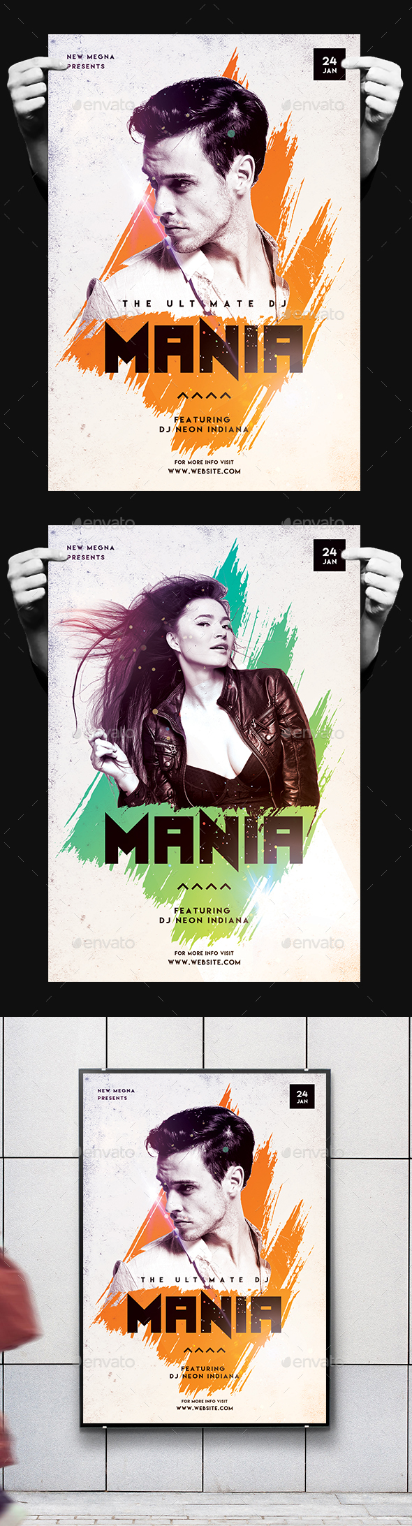 DJ Mania Poster/Flyer - Clubs & Parties Events
