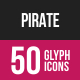 Pirate Glyph Inverted Icons