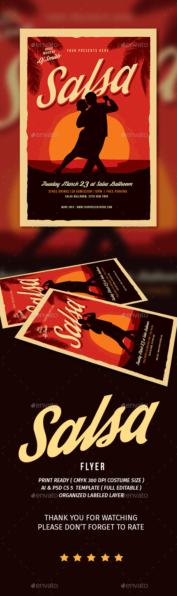 Salsa Dance Flyer - Flyers Print Templates