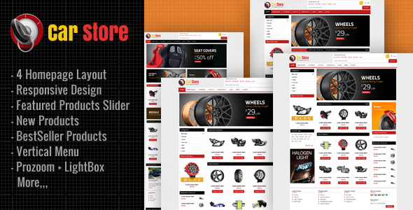 Accessories Car Magento Theme - Magento eCommerce