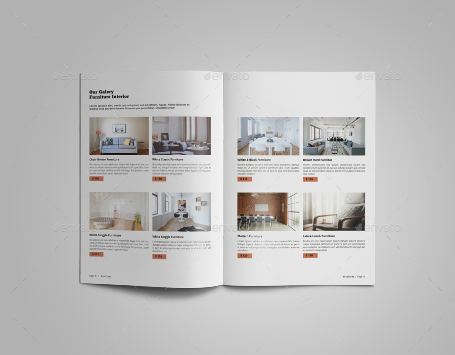 Interior Design Catalogue Template By LeParte  Graphicriver