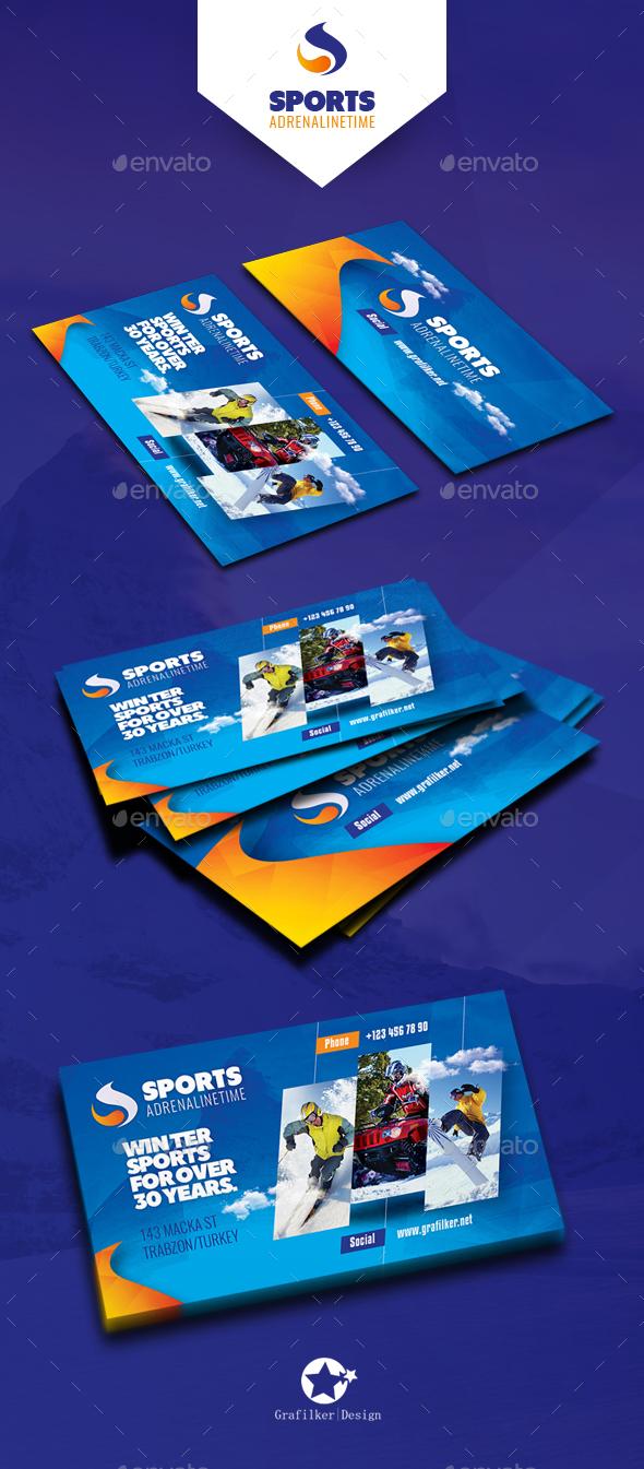 Winter Andventure Business Card Templates - Corporate Business Cards