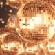 Disco Ball Golden Background