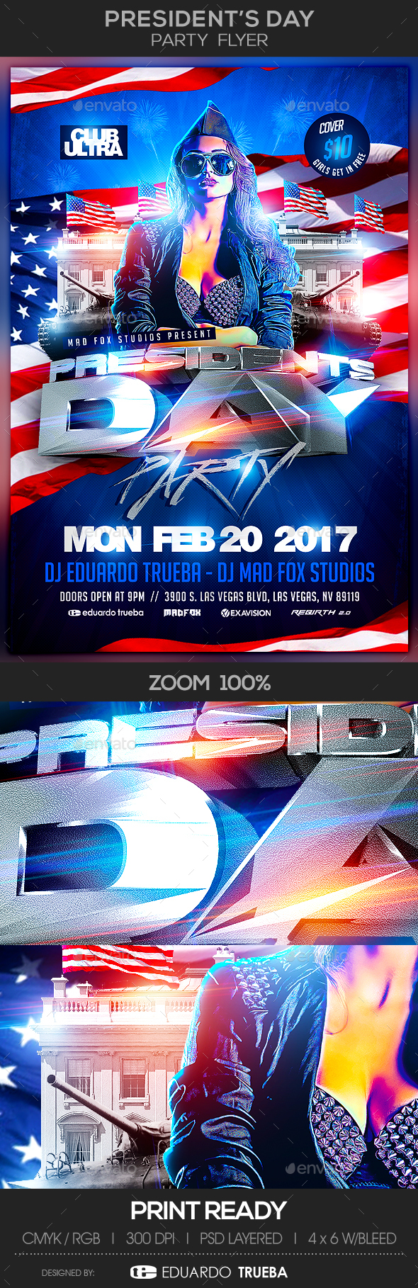 President's Day Party Flyer - Events Flyers