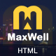 Maxwell - Multipurpose Responsive HTML5 Template - ThemeForest Item for Sale