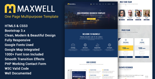Maxwell - Multipurpose Responsive HTML5 Template - Business Corporate