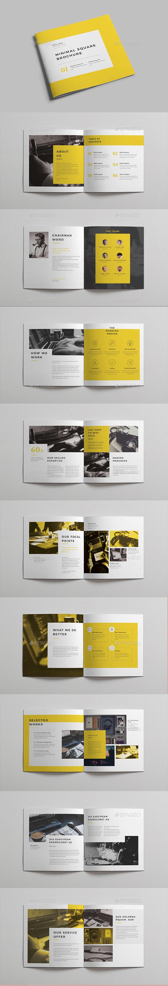 Minimal Square Brochure vol 2 - Brochures Print Templates