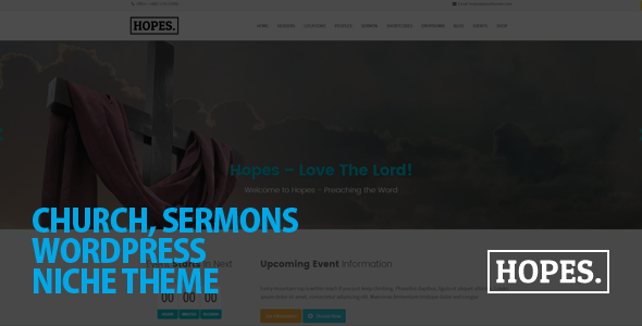 Hopes - Church & Multi-Purpose WordPress Theme