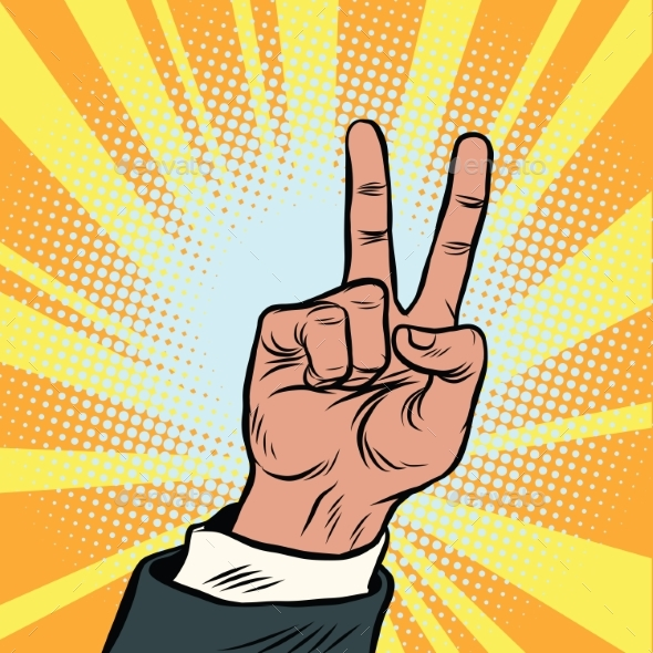 The Hand Gesture of Victory - Concepts Business