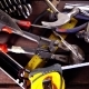 Many Old Rusty Tools on Repairman Desk