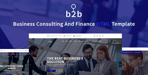 B2B – Business, Consulting, Finance & Corporate Template