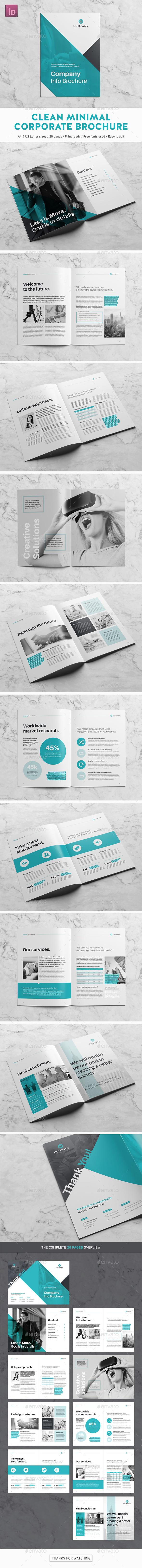 Clean Minimal Corporate Brochure - Corporate Brochures