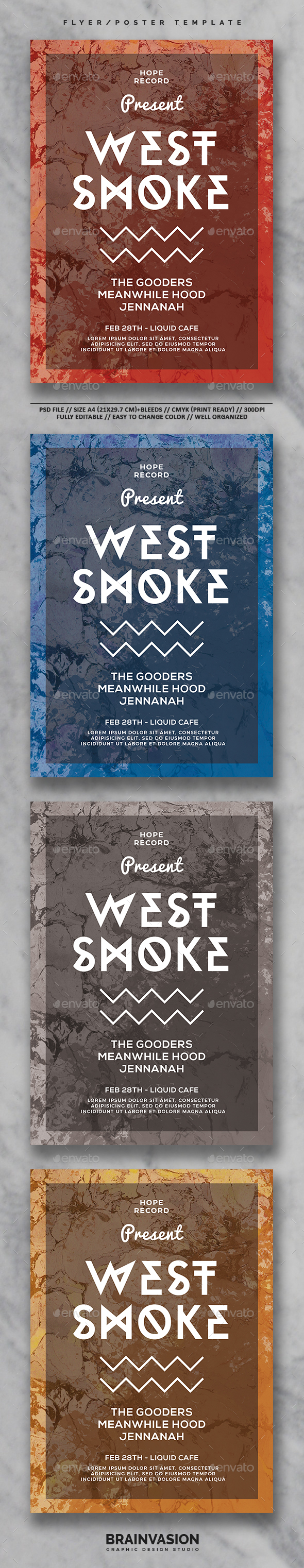 Typography Flyer Template Vol.03 - Clubs & Parties Events