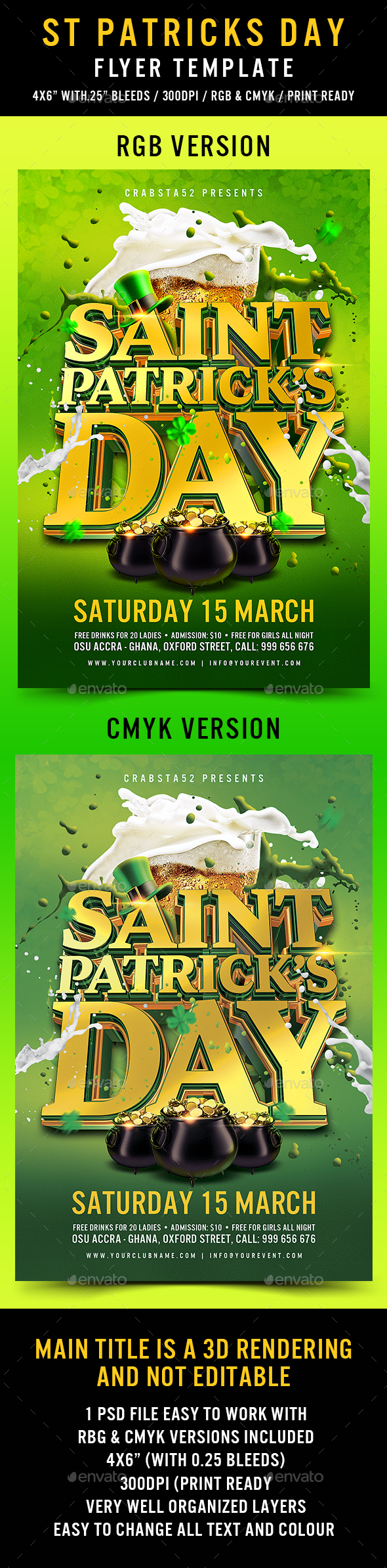 St Patricks Day Flyer Template - Events Flyers
