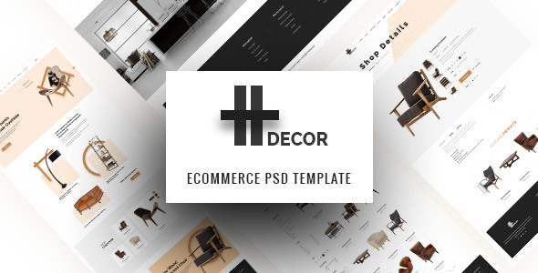 H Decor – Creative PSD Template for Furniture Business Online - Retail PSD Templates