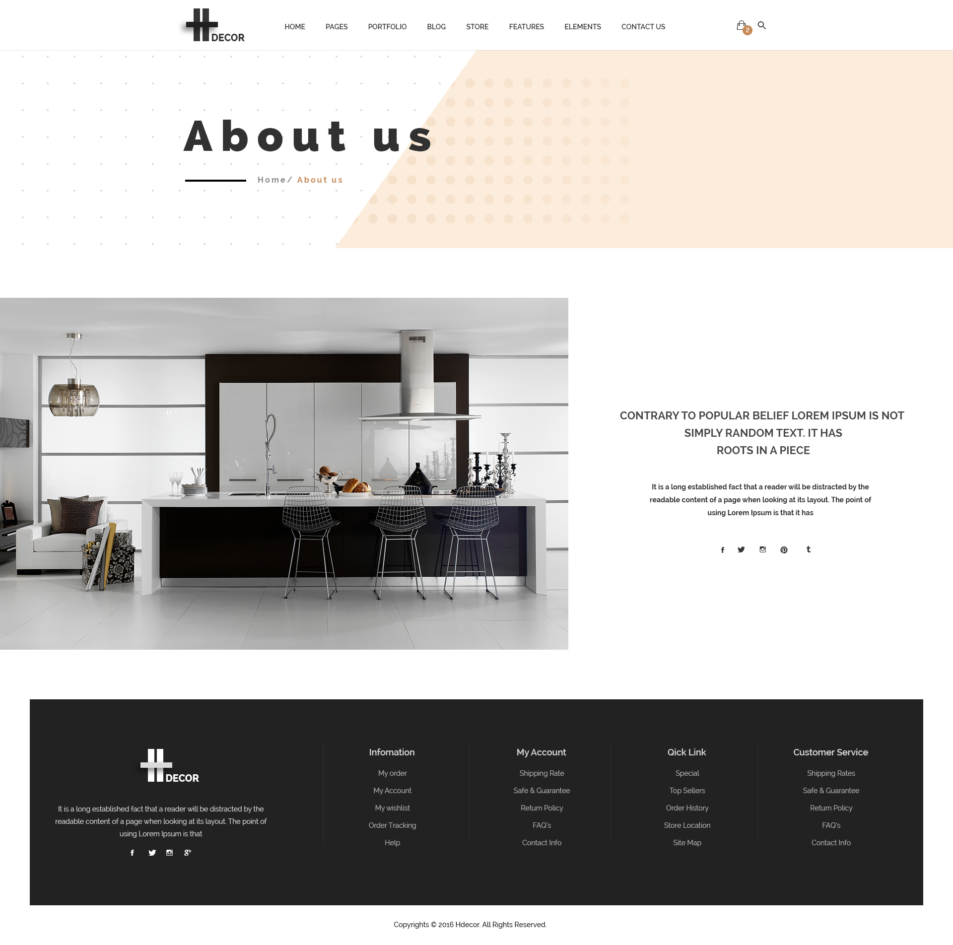 H Decor Creative Psd Template For Furniture Business Online By